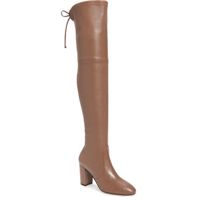 Stuart Weitzman Zuzanna Over The Knee Boot, Beige