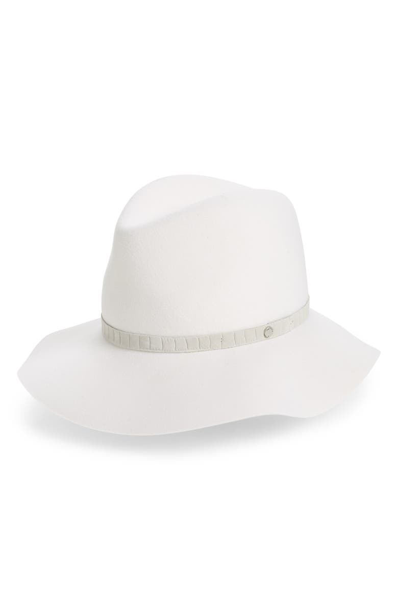 RAG & BONE Floppy Brim Wool Fedora, Main, color, OFF WHITE