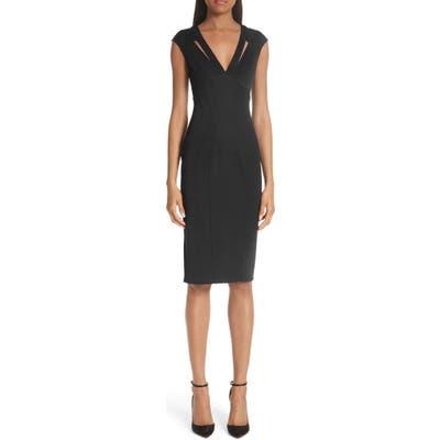 Zac Zac Posen Joni Body-Con Sheath Dress, Black