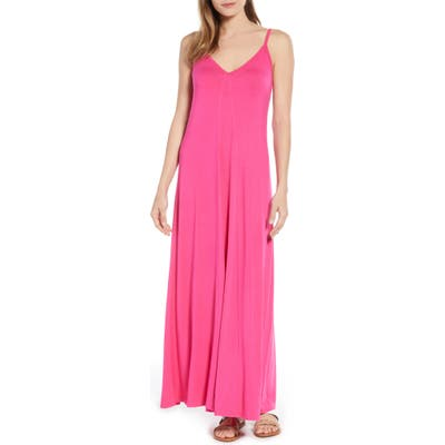 Petite Gibson X Living In Yellow Hazel Casual Knit Maxi Dress, Pink (Regular & Petite) (Nordstrom Exclusive)
