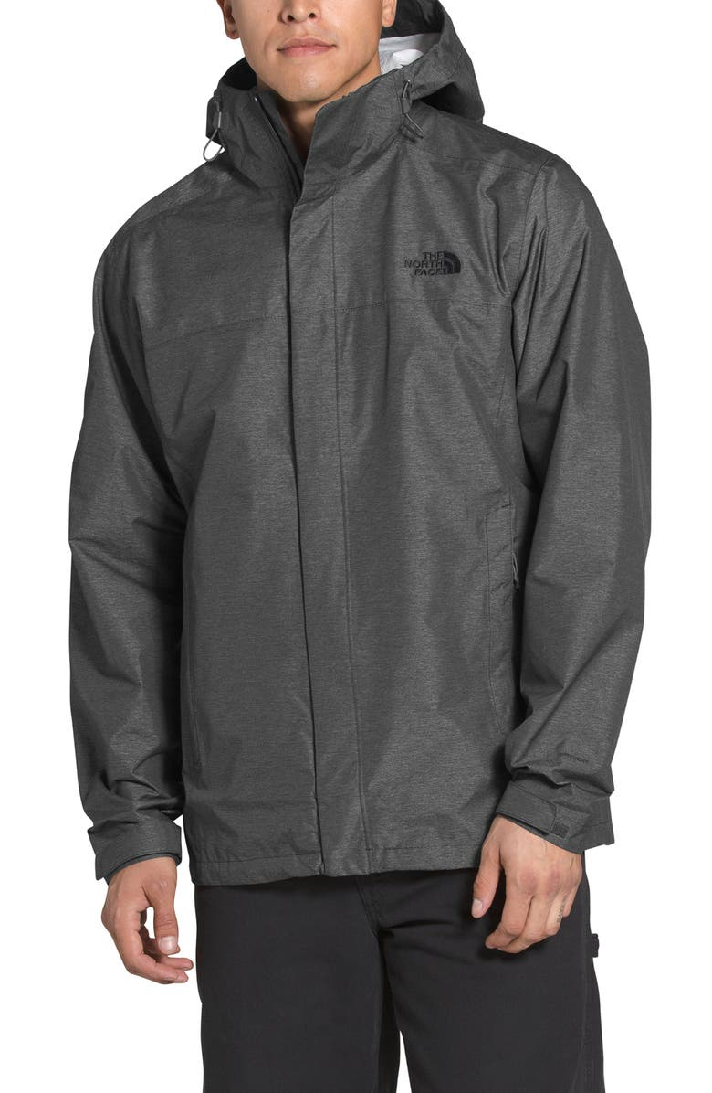 THE NORTH FACE Venture 2 Tall Waterproof Jacket, Main, color, DARK GREY HEATHER/ BLACK