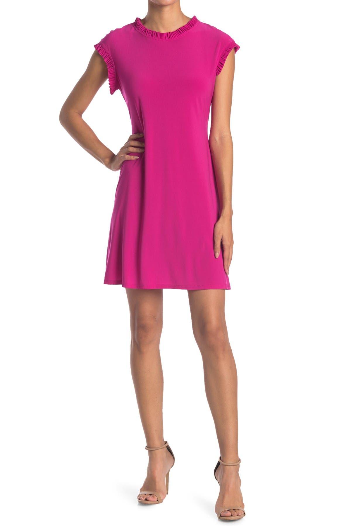 Image of TASH + SOPHIE Jersey Ruffle A-Line Dress