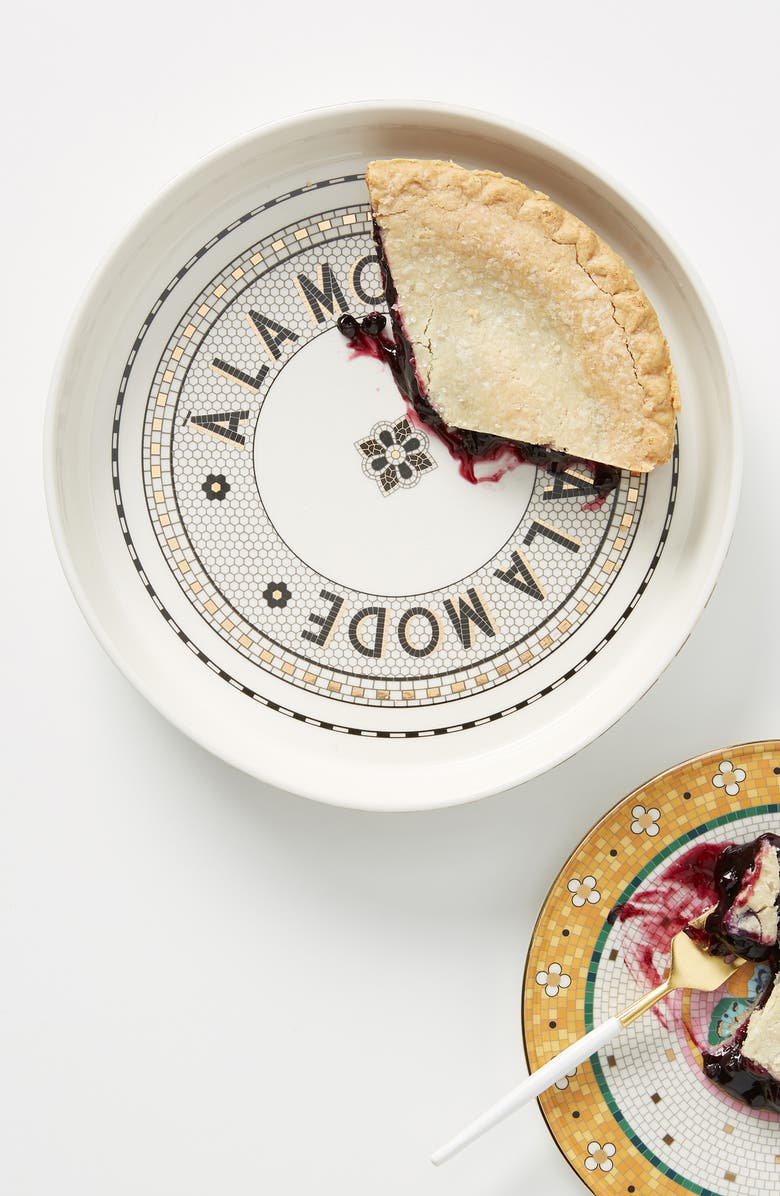 ANTHROPOLOGIE Bistro Pie Dish, Main, color, WHITE