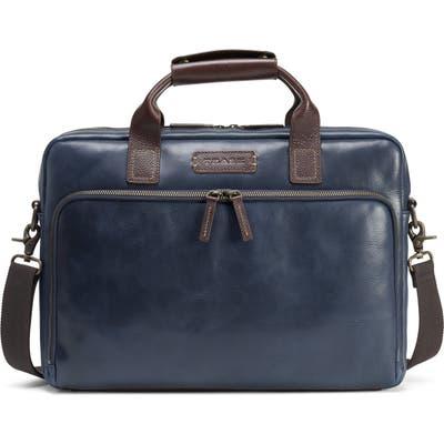 Trask Sutton Slim Briefcase - Blue