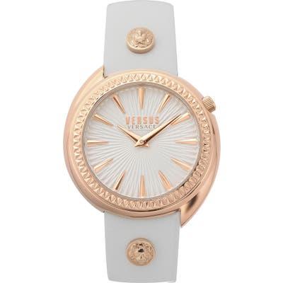 Versus Versace Tortona Leather Strap Watch,