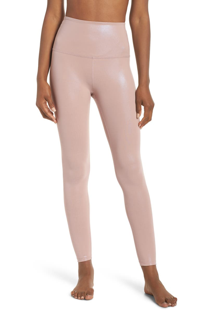 b1371ebeb8acf Beyond Yoga Pearlized High Waist Ankle Leggings | Nordstrom