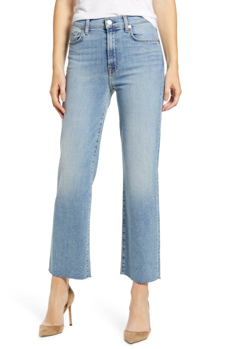 7 FOR ALL MANKIND<SUP>®</SUP> Alexa High Waist Ankle Wide Leg Jeans, Main, color, VINTAGE MERCER