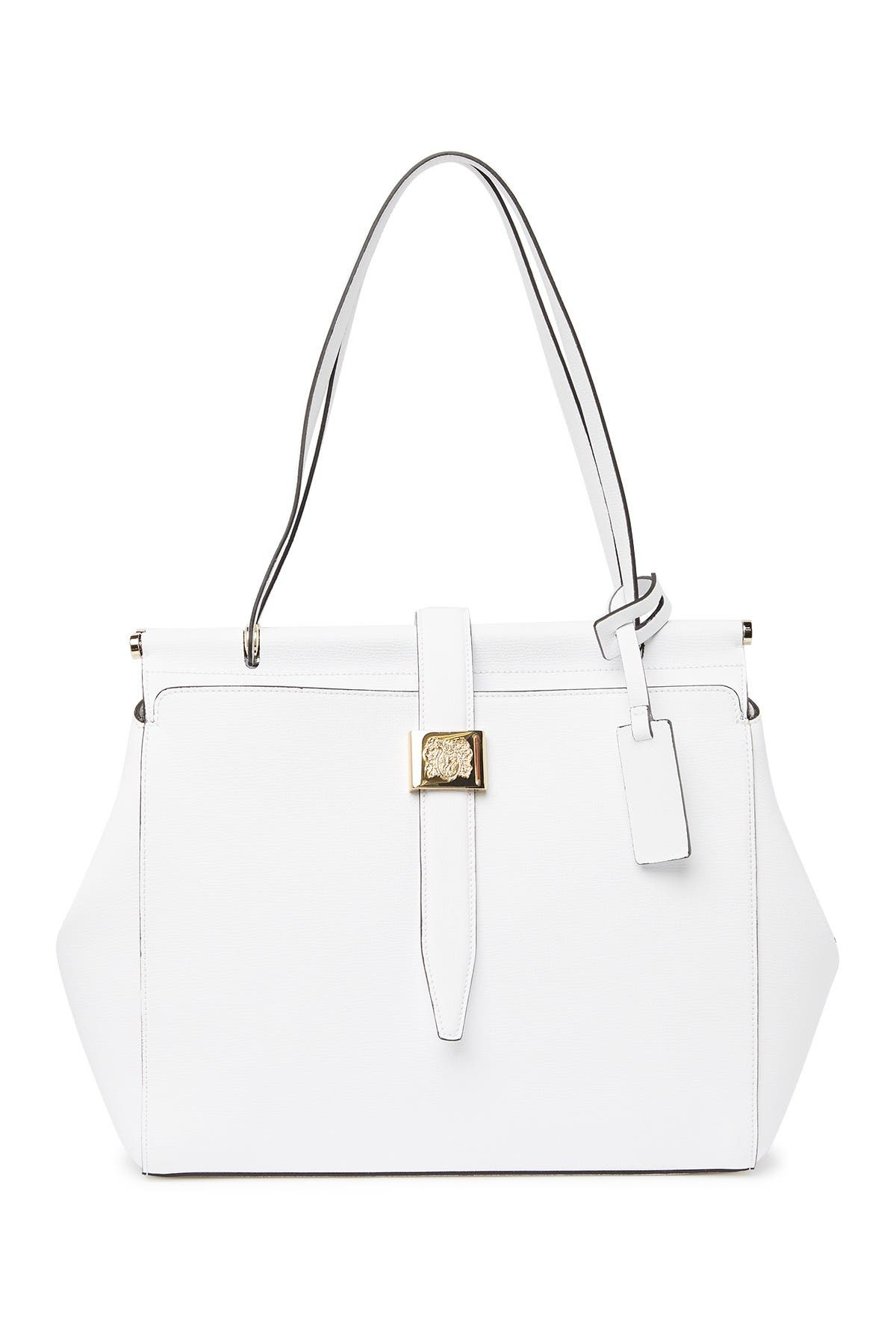 Image of Bruno Magli Double Dowel Leather Tote Bag