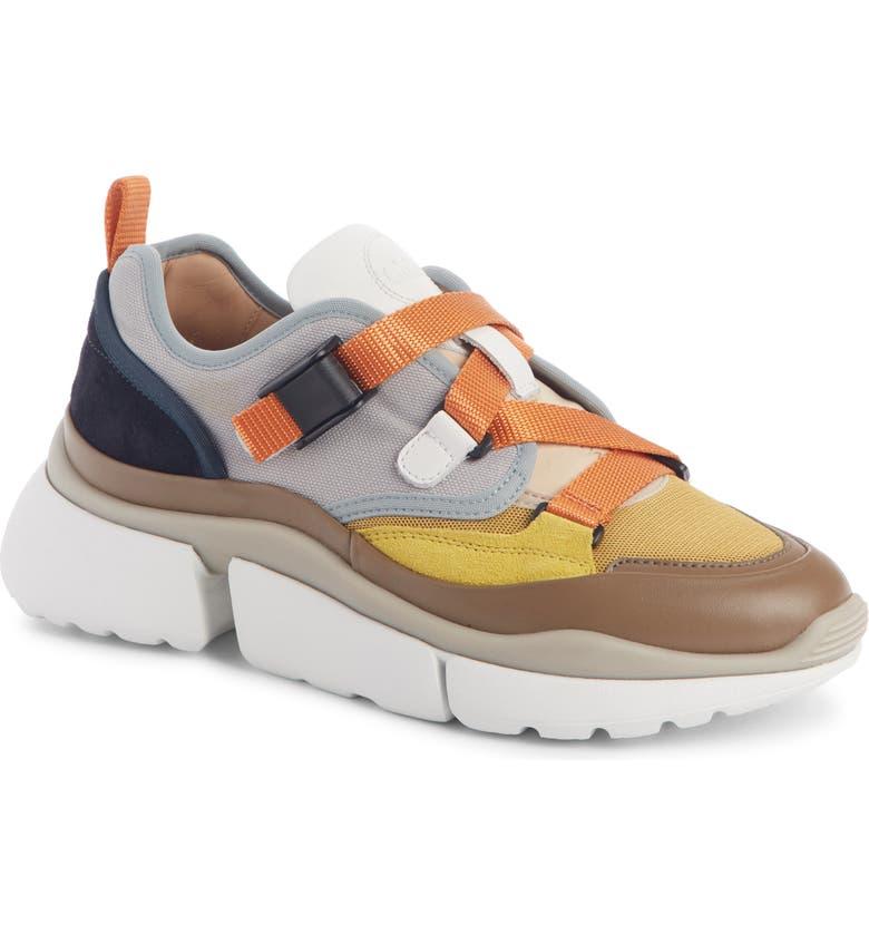 CHLOÉ Sonnie Low Top Sneaker, Main, color, AUTUMN LEAF