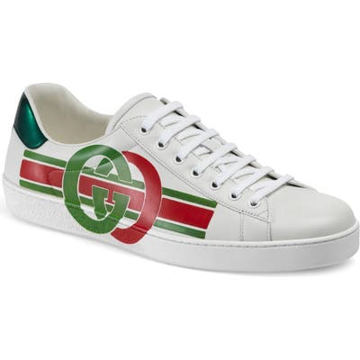 Gucci New Ace Logo Sneaker, White