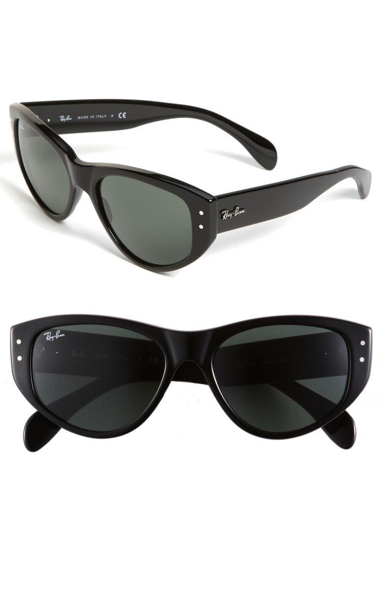 RAY-BAN 'Vagabond' Cat's Eye Sunglasses, Main, color, 001