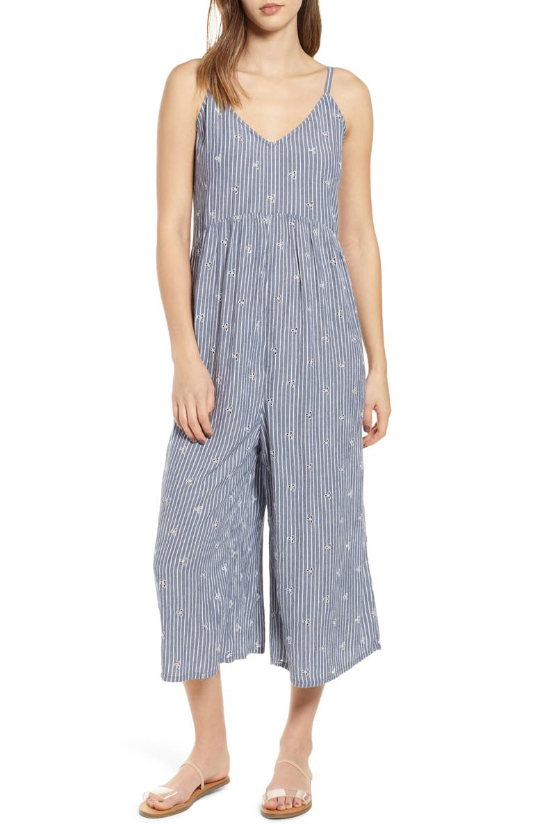 BP. Embroidered Wide Leg Jumpsuit, Main, color, 410