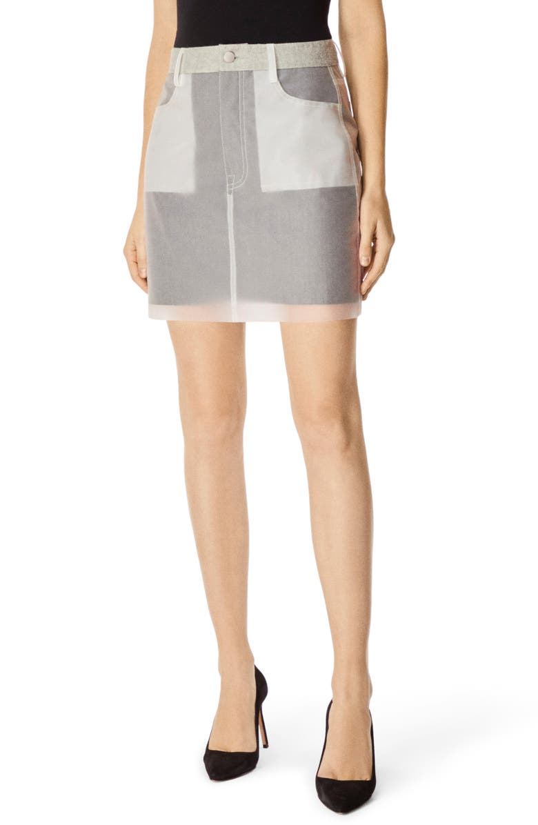 J BRAND Loria Miniskirt, Main, color, CLEAR INDIGO