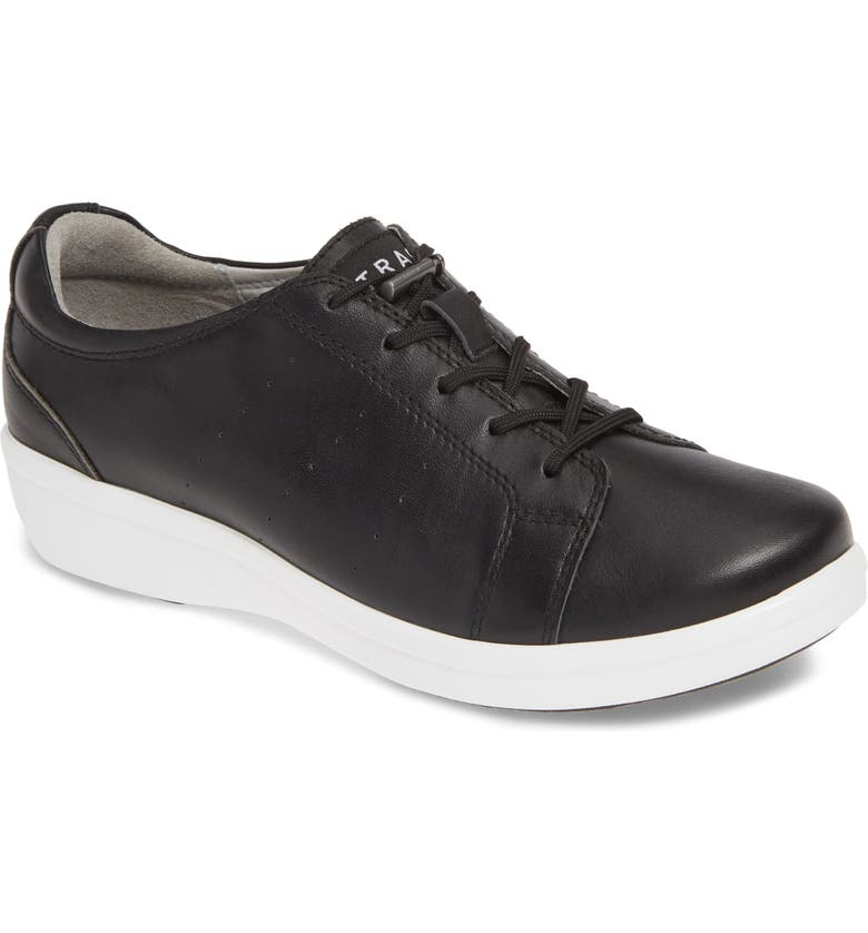 ALEGRIA Cliq Sneaker, Main, color, BLACK LEATHER
