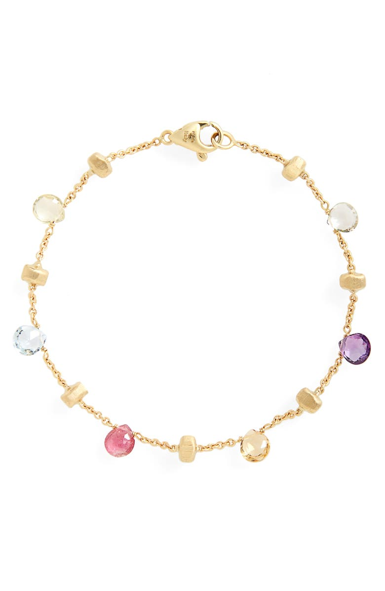 MARCO BICEGO 'Paradise' Single Strand Bracelet, Main, color, YELLOW GOLD/ MULTI