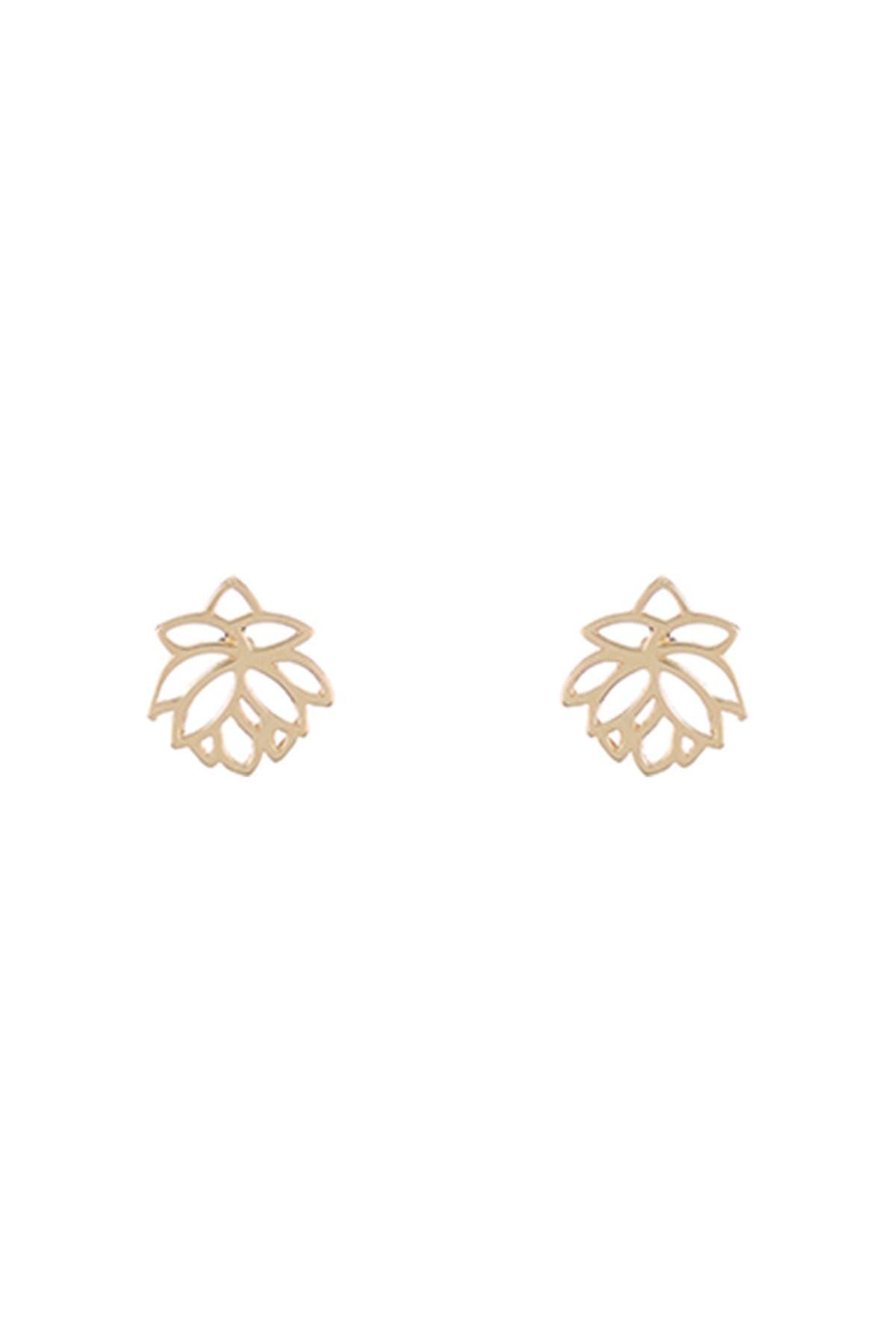 Image of KARAT RUSH 14K Yellow Gold Mini Flower Stud Earrings