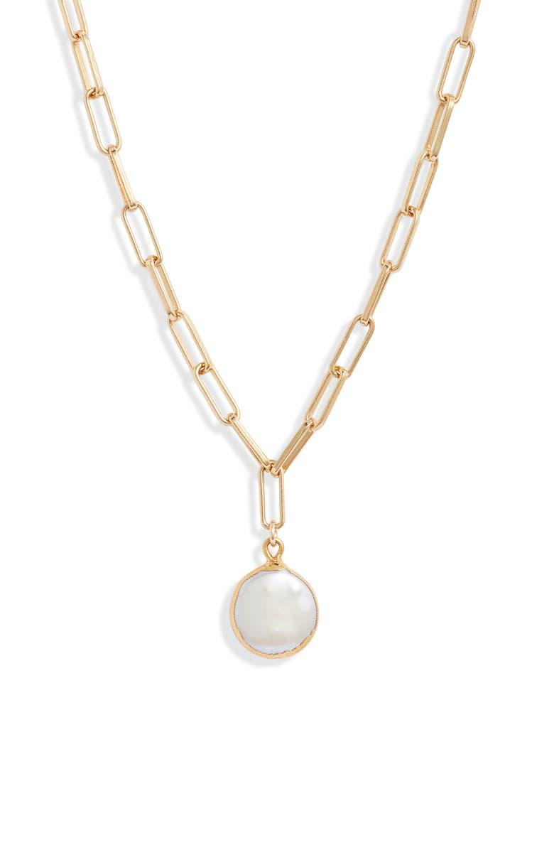 SET & STONES Capri Pendant Necklace, Main, color, GOLD