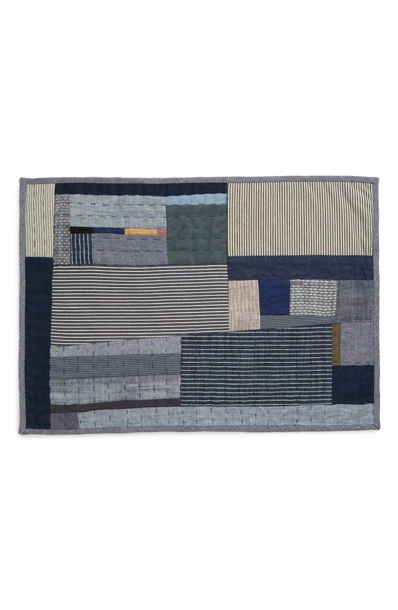 THOMPSON STREET STUDIO Cotton & Linen Patchwork Placemat, Main, color, 400