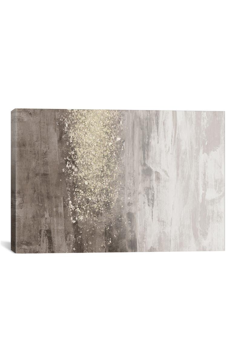 ICANVAS Glitter Rain II by Jennifer Goldberger Giclée Print Canvas Art, Main, color, GREY