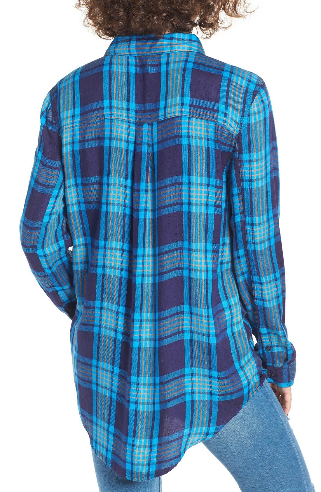 ,                             Plaid Tunic Shirt,                             Alternate thumbnail 28, color,                             410