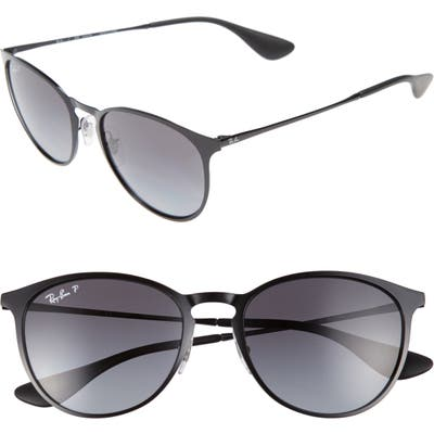 Ray-Ban Erik 5m Polarized Sunglasses - Shiny Black