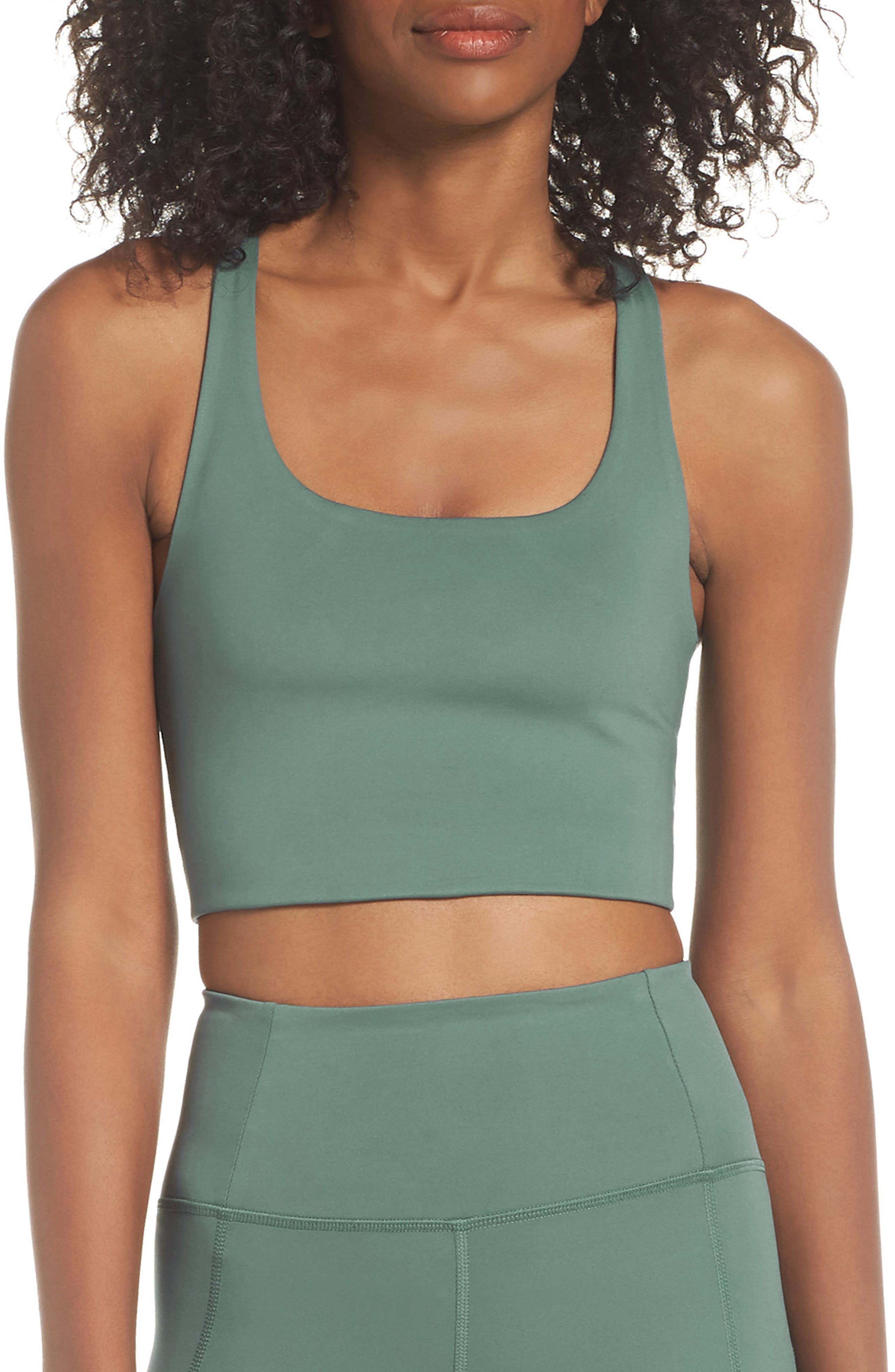 Girlfriend Collective Paloma Sports Bra, Green
