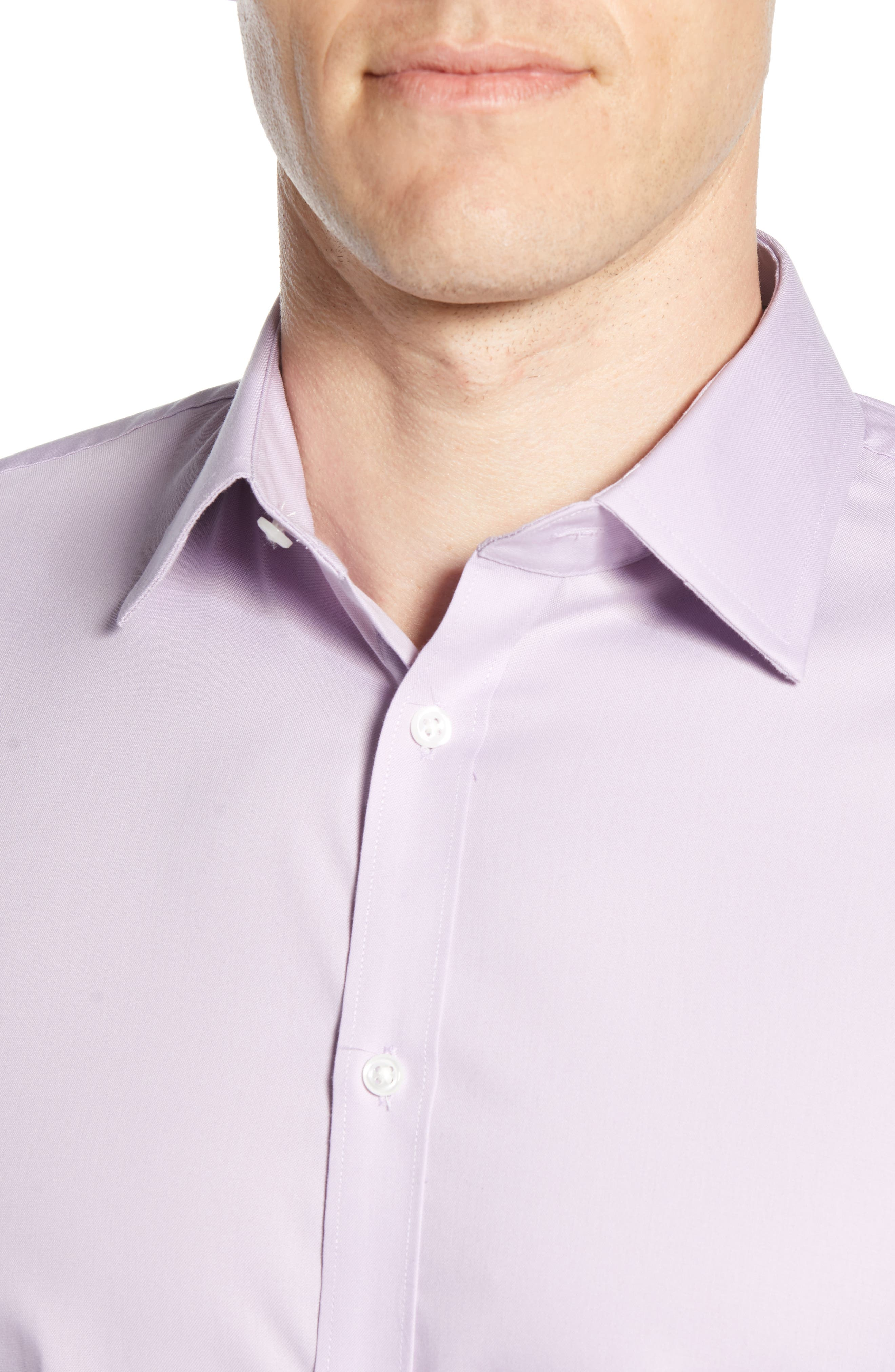 ,                             Extra Trim Fit Non-Iron Solid Dress Shirt,                             Alternate thumbnail 32, color,                             520