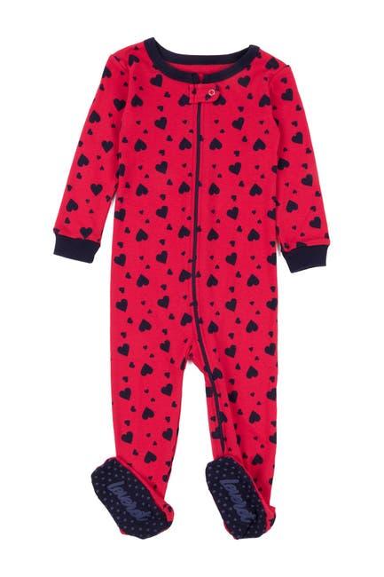 Image of Leveret Hearts Footed Sleeper Pajama