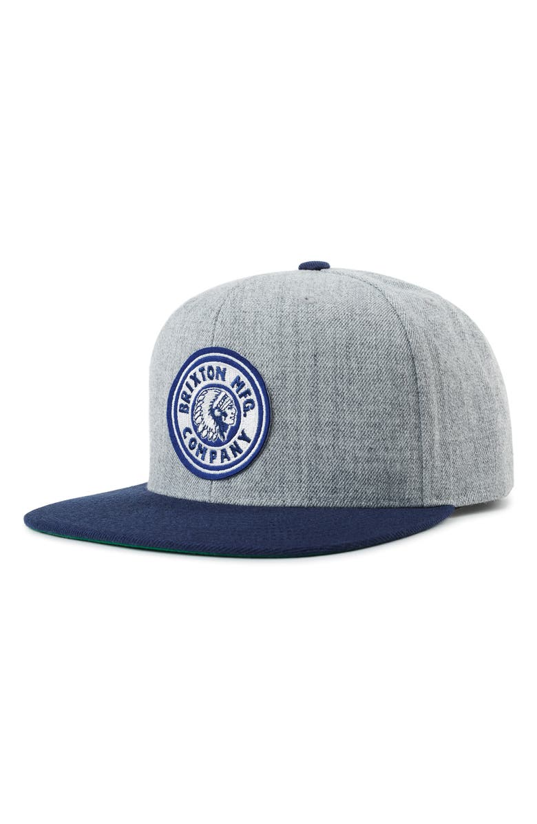 quality design c4e32 c2bf2  Rival  Snapback Cap, Main, color, HEATHER GREY  NAVY