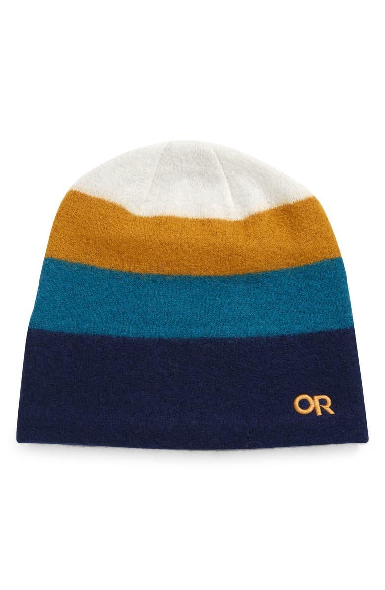 OUTDOOR RESEARCH Gradient Stripe Merino Wool Beanie, Main, color, TREELINE