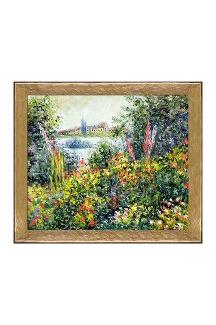 """Image of Overstock Art Flowers at Vetheuil Framed Oil Reproduction of an Original Painting by Claude Monet - 28""""x24"""""""