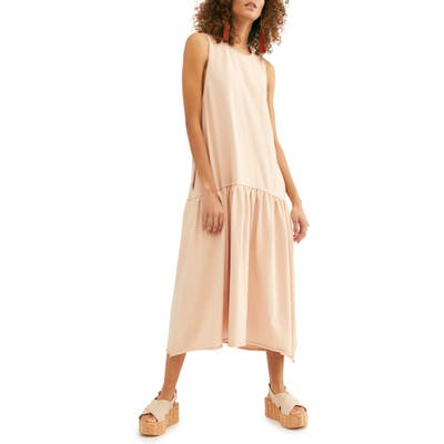 Endless Summer By Free People Drop Waist Midi Dress, Pink
