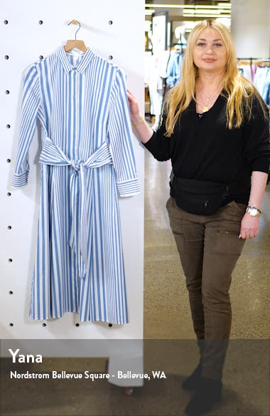 Debrana Stripe Shirtdress, sales video thumbnail