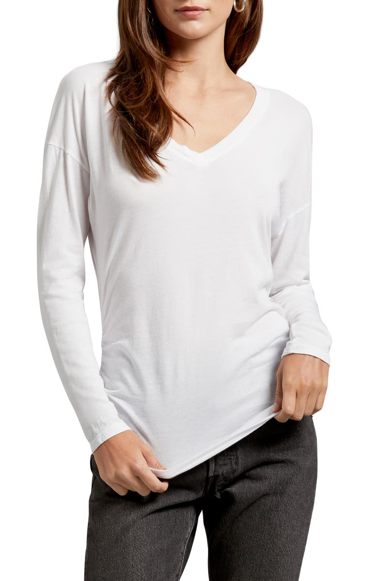 MICHAEL STARS Carson Ultra Jersey Tee, Main, color, WHITE