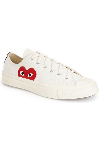borde Física grieta  Comme des Garçons PLAY x Converse Chuck Taylor® Low Top Sneaker (Unisex)    Nordstrom
