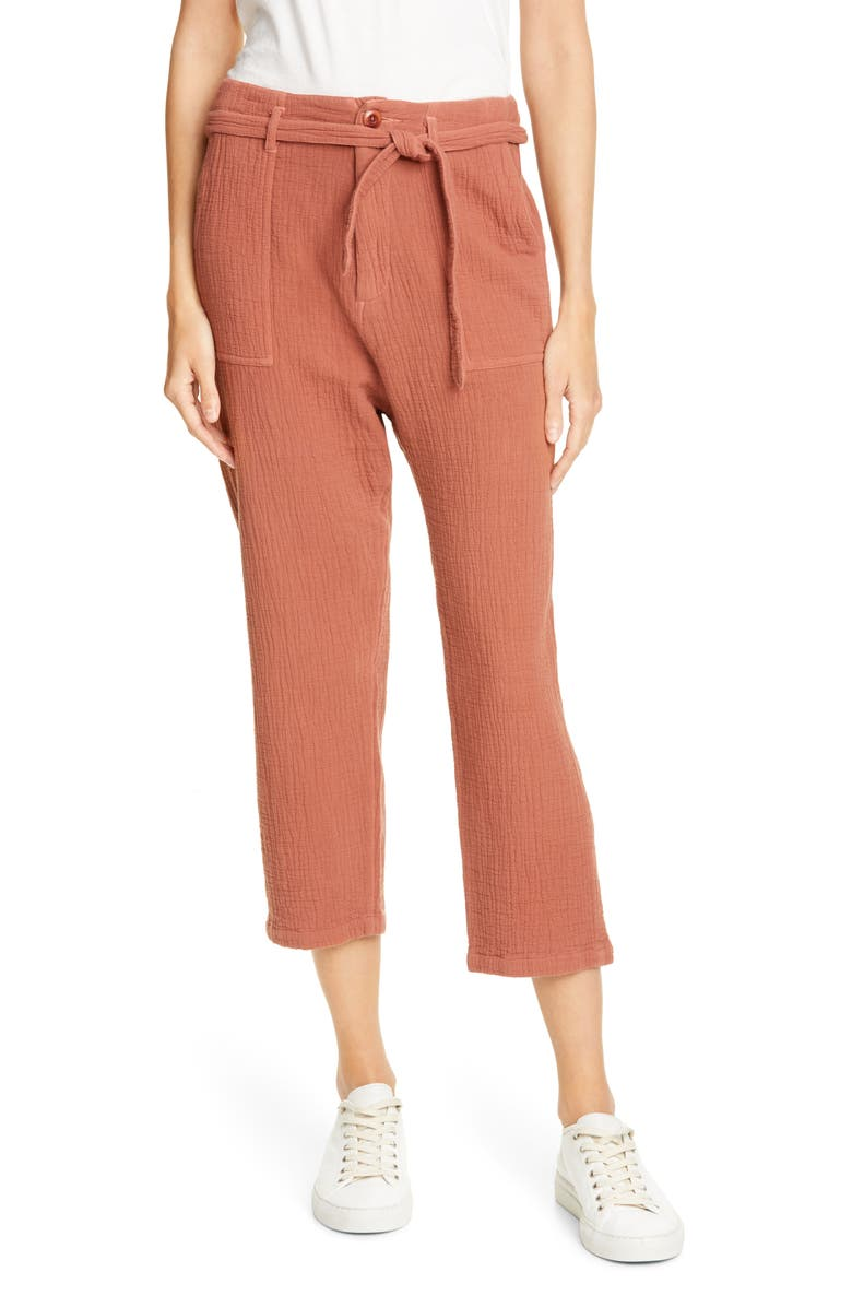 THE GREAT. The Convertible Trousers, Main, color, RUST