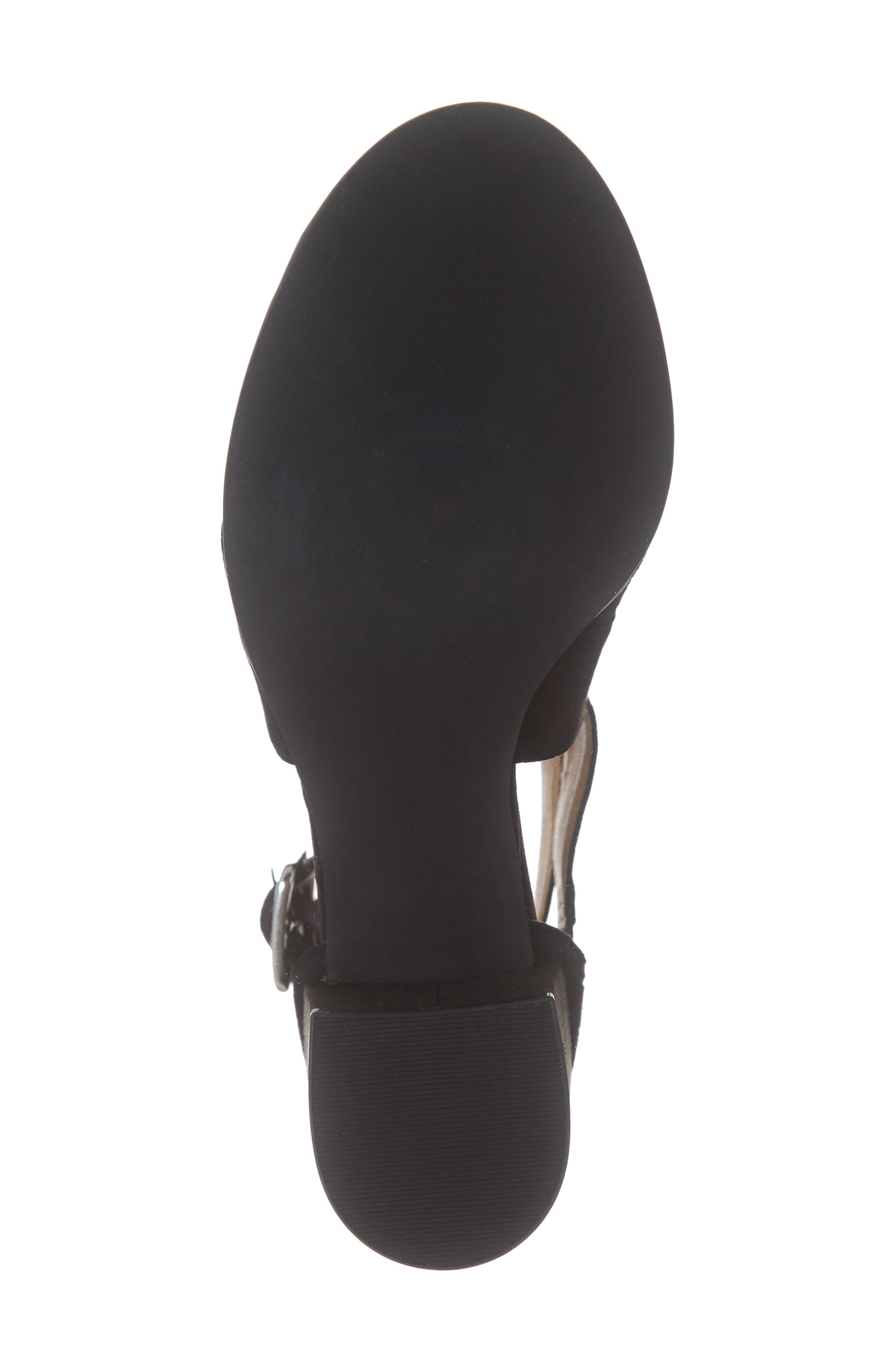 ,                             Izzy Block Heel Sandal,                             Alternate thumbnail 6, color,                             BLACK SUEDE