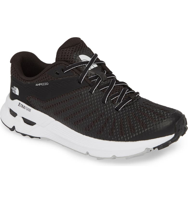 THE NORTH FACE Ampezzo Running Shoe, Main, color, BLACK/ WHITE