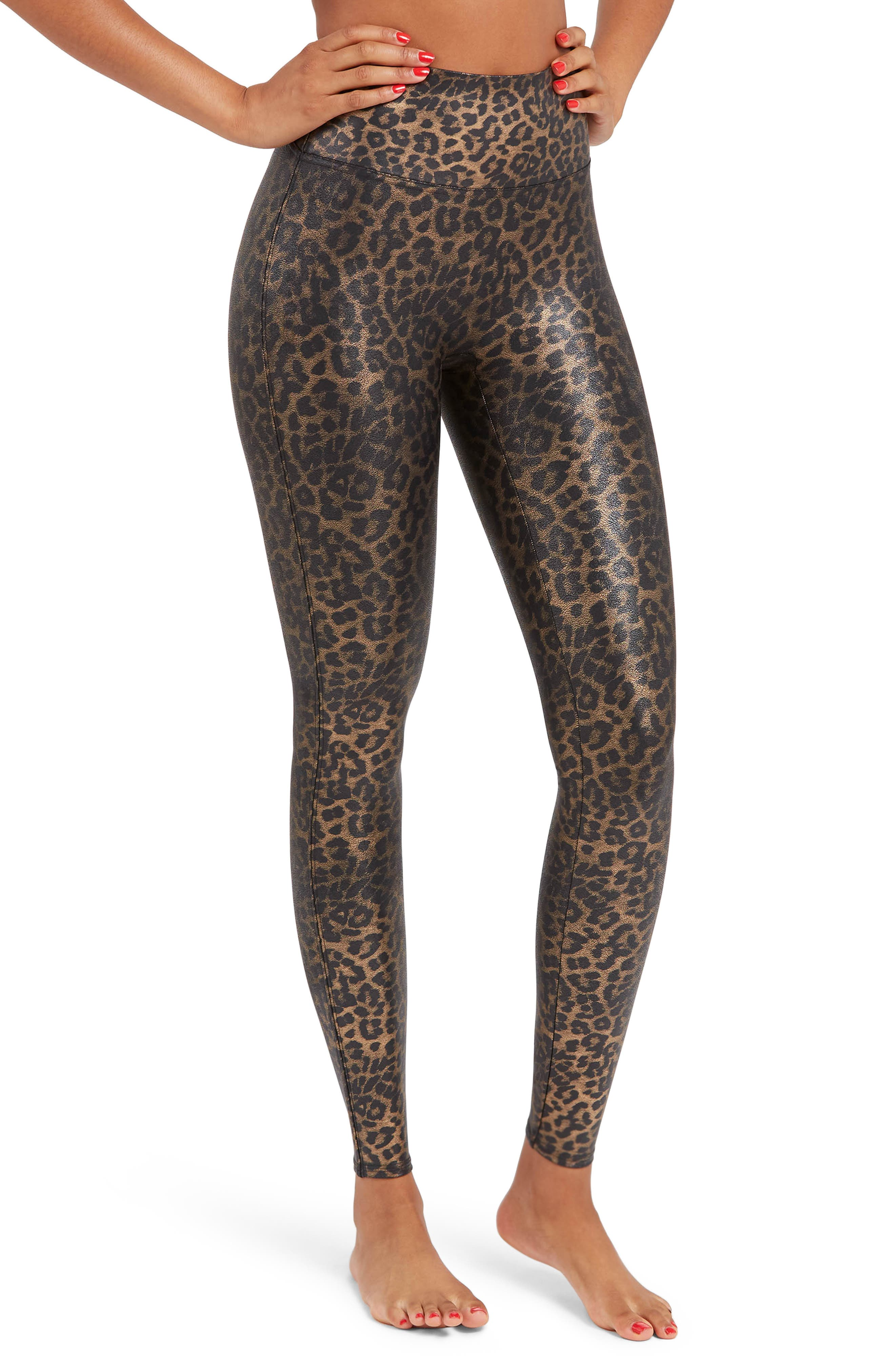 SPANX® Leopard Print Faux Leather Leggings