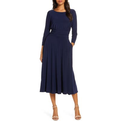 Julia Jordan Back Tie Midi Dress, Blue