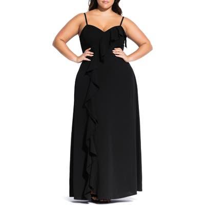Plus Size City Chic Catalina Maxi Dress, Black