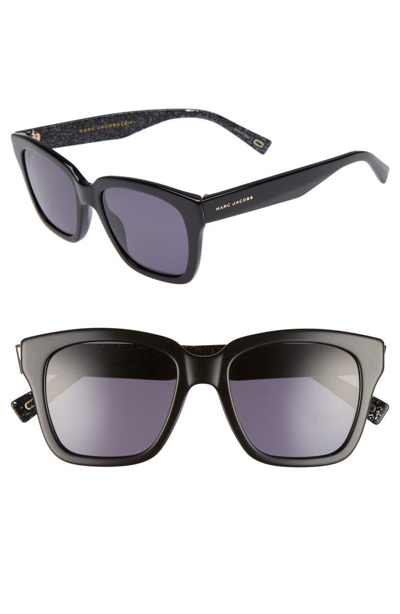 THE MARC JACOBS MARC JACOBS 52mm Square Sunglasses, Main, color, 004
