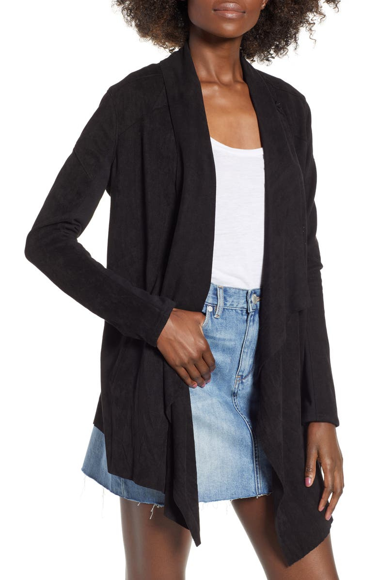 BLANKNYC Cloud Nine Drape Jacket, Main, color, 001