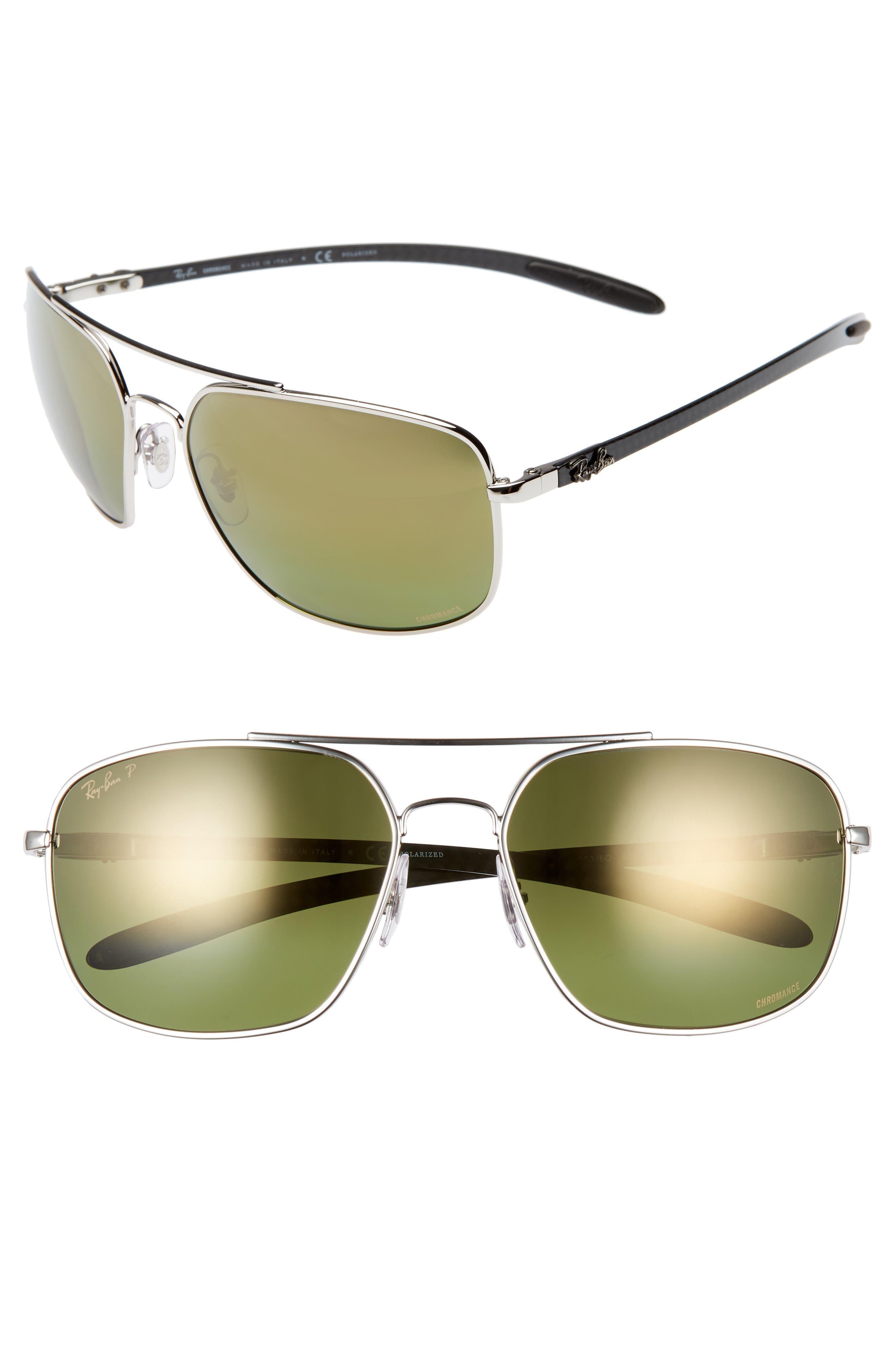 Ray-Ban 62Mm Polarized Square Sunglasses -