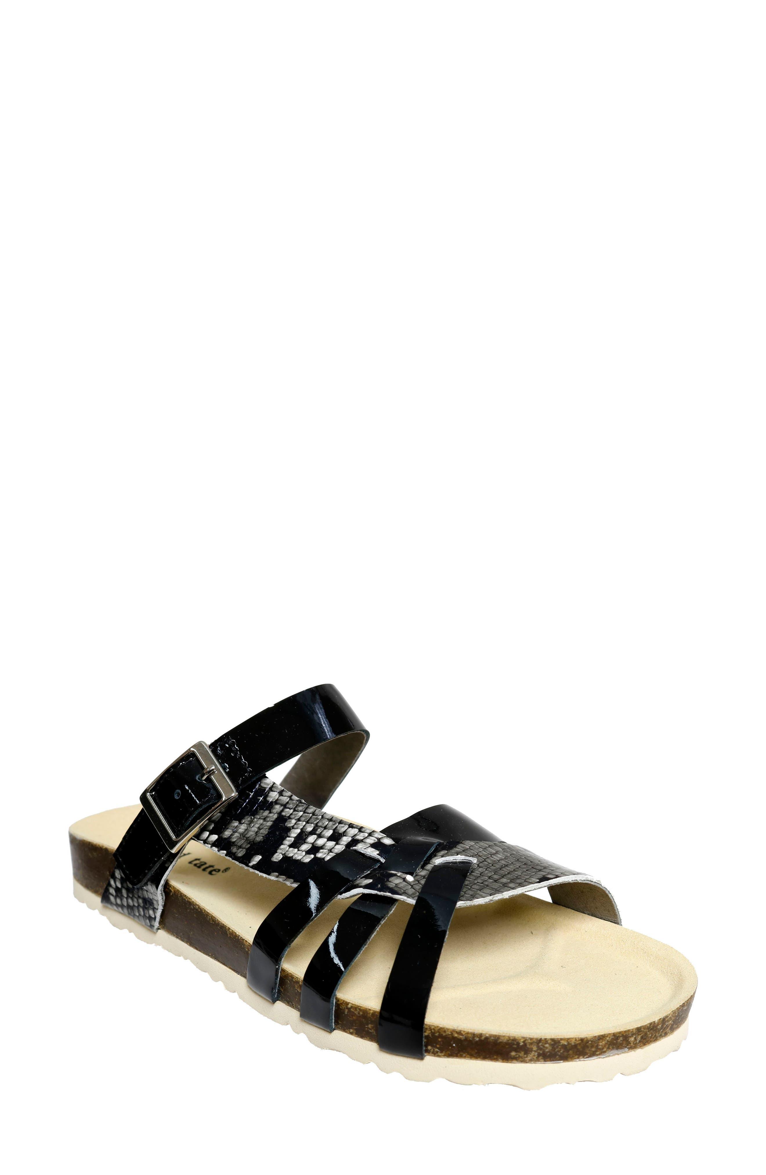 Warm Strappy Slide Sandal