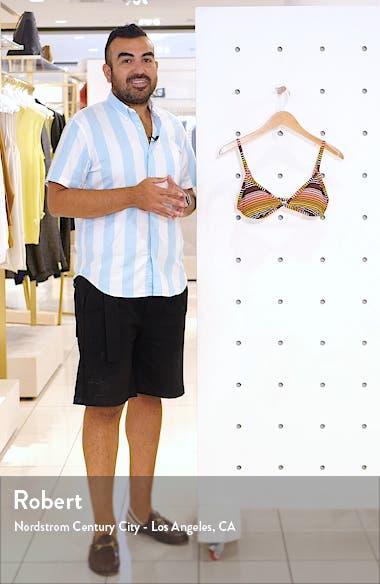 Sun Fall Triangle Bikini Top, sales video thumbnail