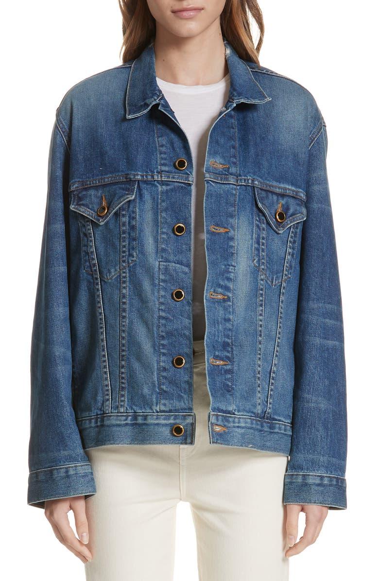 KHAITE Cate Oversize Denim Jacket, Main, color, FLORENCE