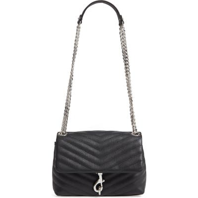 Rebecca Minkoff Edie Quilted Leather Crossbody Bag - Black