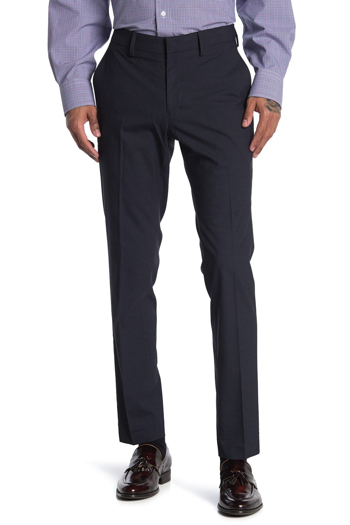 "Image of Louis Raphael Basketwoven Trousers - 30-34"" Inseam"