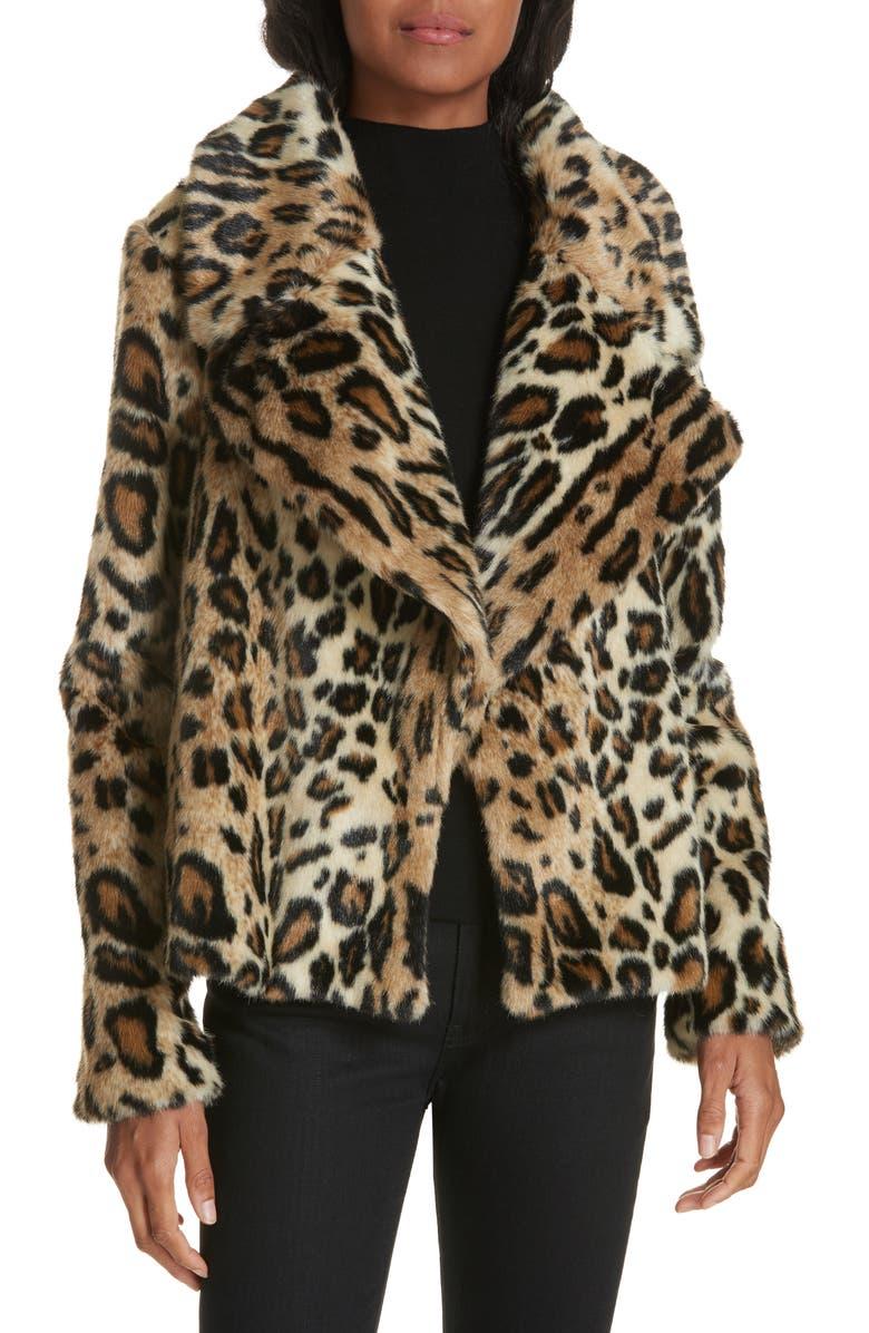 cf8de2068bfe Cole Faux Fur Cheetah Jacket, Main, color, 200